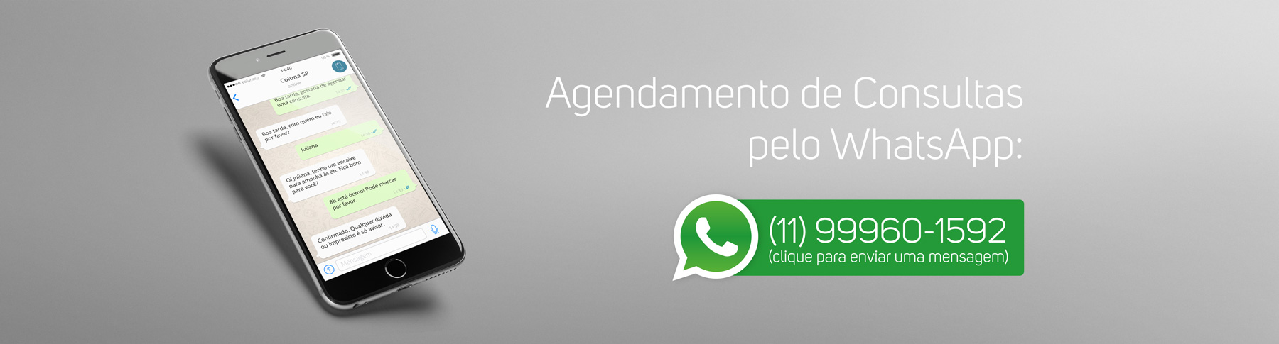 Agendar Consulta via WhatsApp