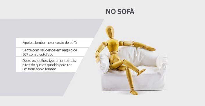 Como corrigir a má postura nas atividades do dia a dia: No Sofá